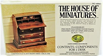 House of Miniatures Chippendale Desk Kit//Circa 1750-1790 #40017