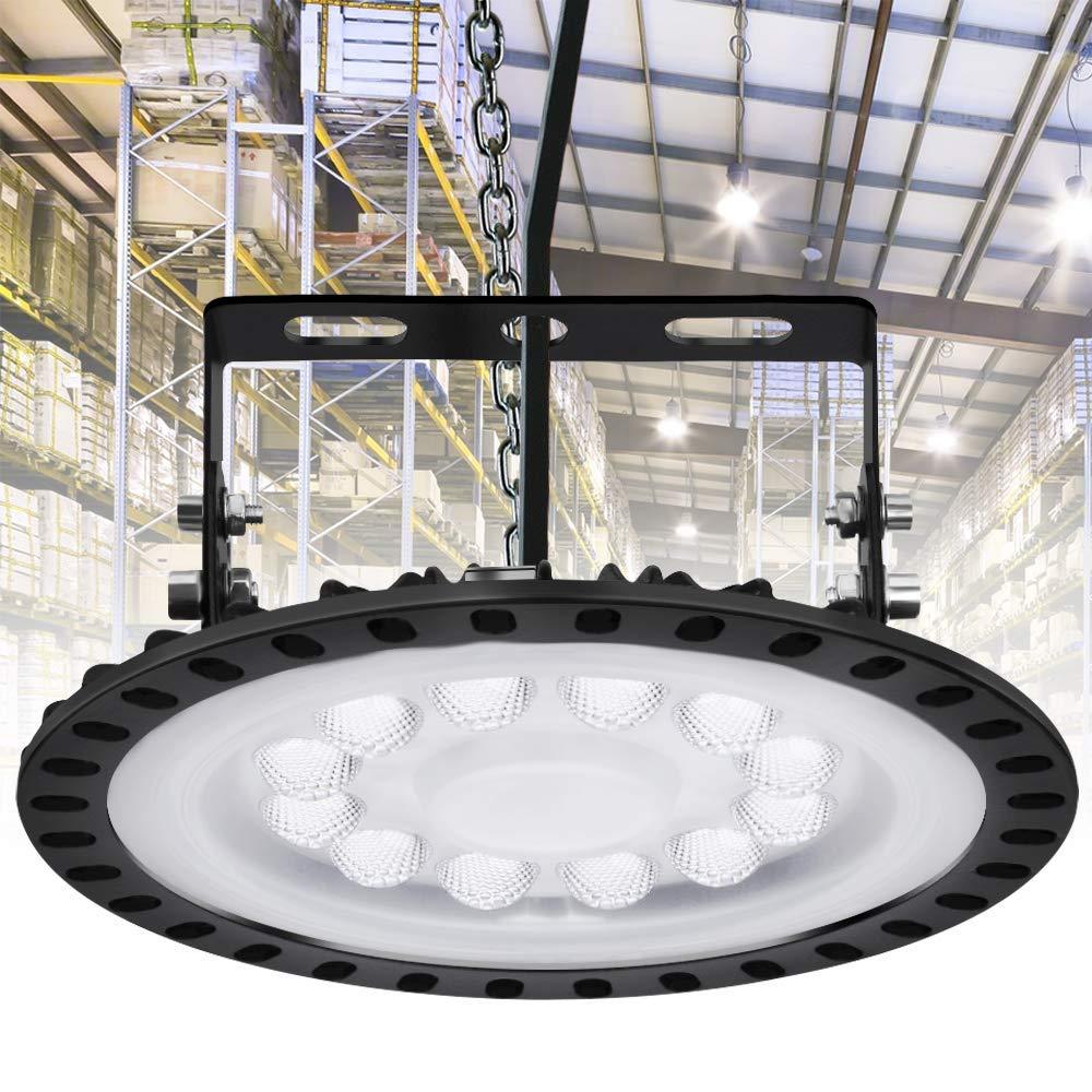 UFO LED High Bay Light, 50W 110V Commercial Bay Lighting, 4000LM Daylight White, IP65 Waterproof Warehouse Lighting,UFO Super Bright Factory Supermarket Stadium Workshop Lamp