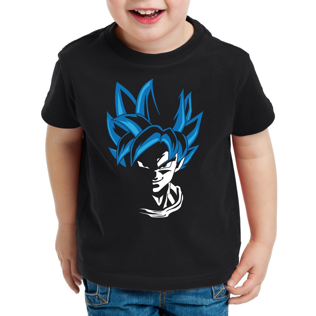 style3 Super Goku Blue God Modo T-Shirt per Bambini e Ragazzi