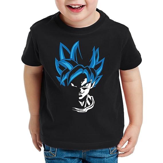 style3 Super Goku Blue God Modo Camiseta para Niños T-Shirt: Amazon.es: Ropa y accesorios