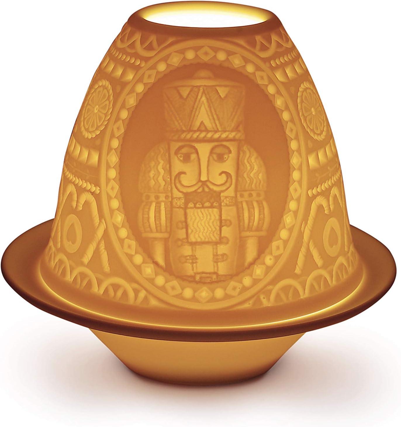 LLADR/Ó Litofan/ía Cascanueces con Plato Litofan/ía de Porcelana.