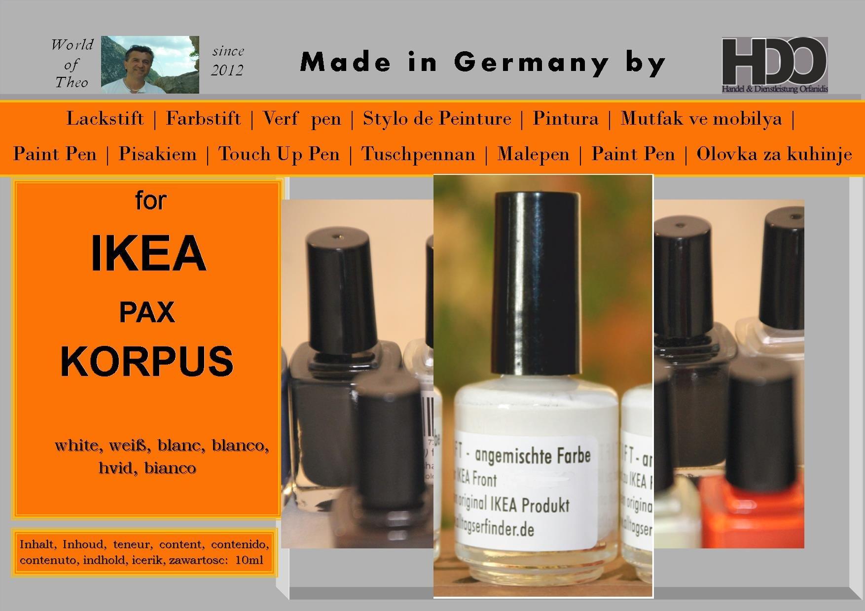 Q-Pen HDO Touch Up Paint for IKEA PAX Korpus white by Q-Pen HDO
