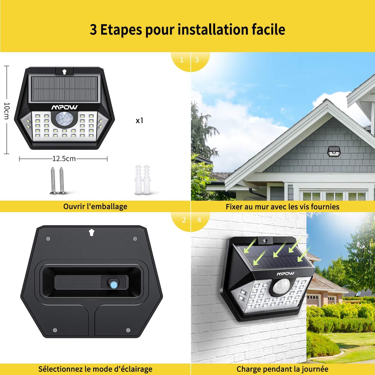 Mpow 20 LED Luz Solar (20LED) (3 Piezas)