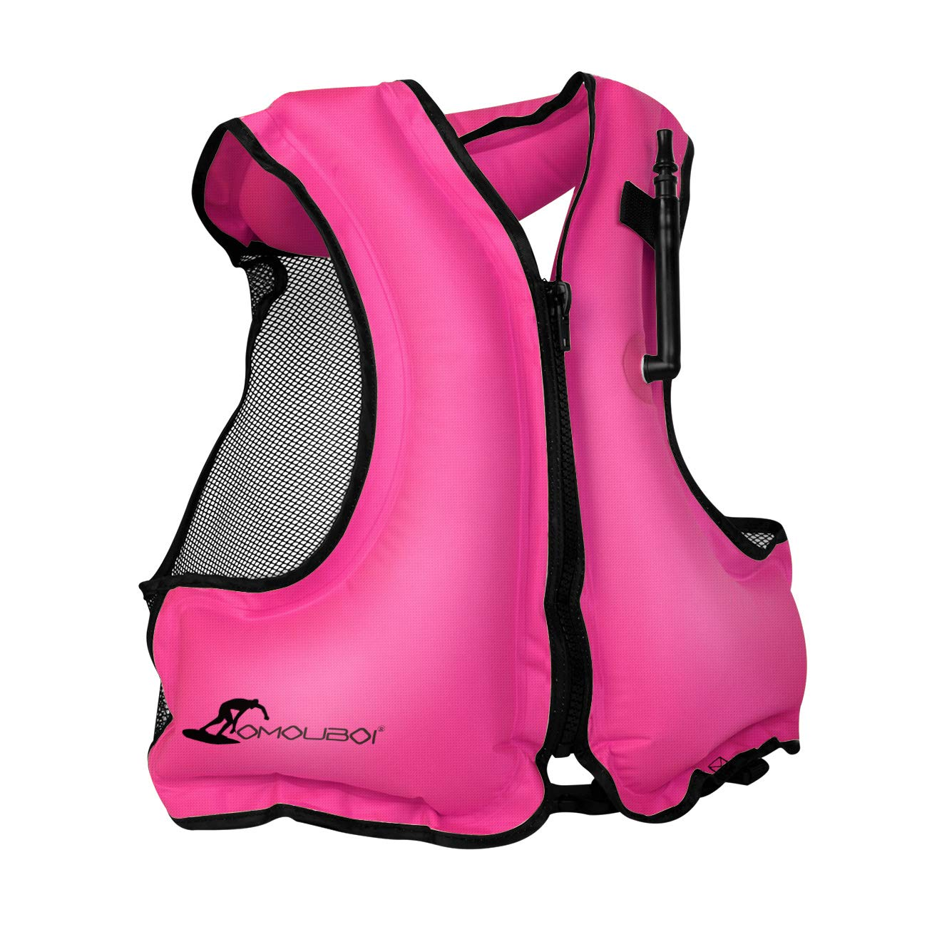 OMOUBOI Adult Snorkel Vest Inflatable with Leg Straps for Men Women Life Jactket for Snorkeling Diving Swimming-2019 New Packaging(Pink) by OMOUBOI