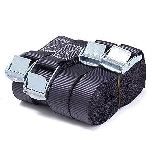 Audew 4 X Heavy Duty Cinta Tensor Correa de Trincaje Amarre Fuerte Carga Con Hebilla de Metal 5MTx25MM