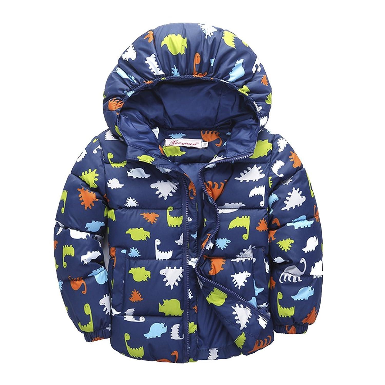 [Winterjacke für Kinder ] verdickte Daunenmantel Down Jacket Steppjacke Mädchen JungenTrenchcoat Outerwear Daunenjacken mit Kapuze