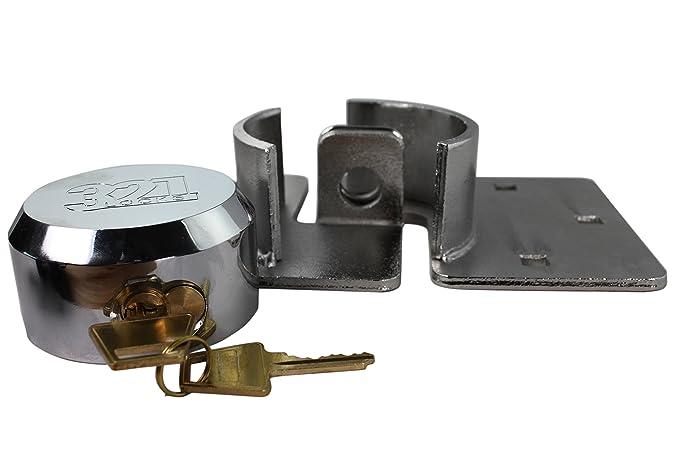 CT-10 - Candado y aldaba para candados para camionetas, máquinas expendedoras, remolques, camiones: Amazon.es: Bricolaje y herramientas