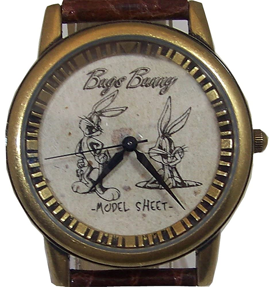 Amazon.com: Bugs Bunny Watch First Sketch Model Sheet Warner Bros. Limited Edition: Watches
