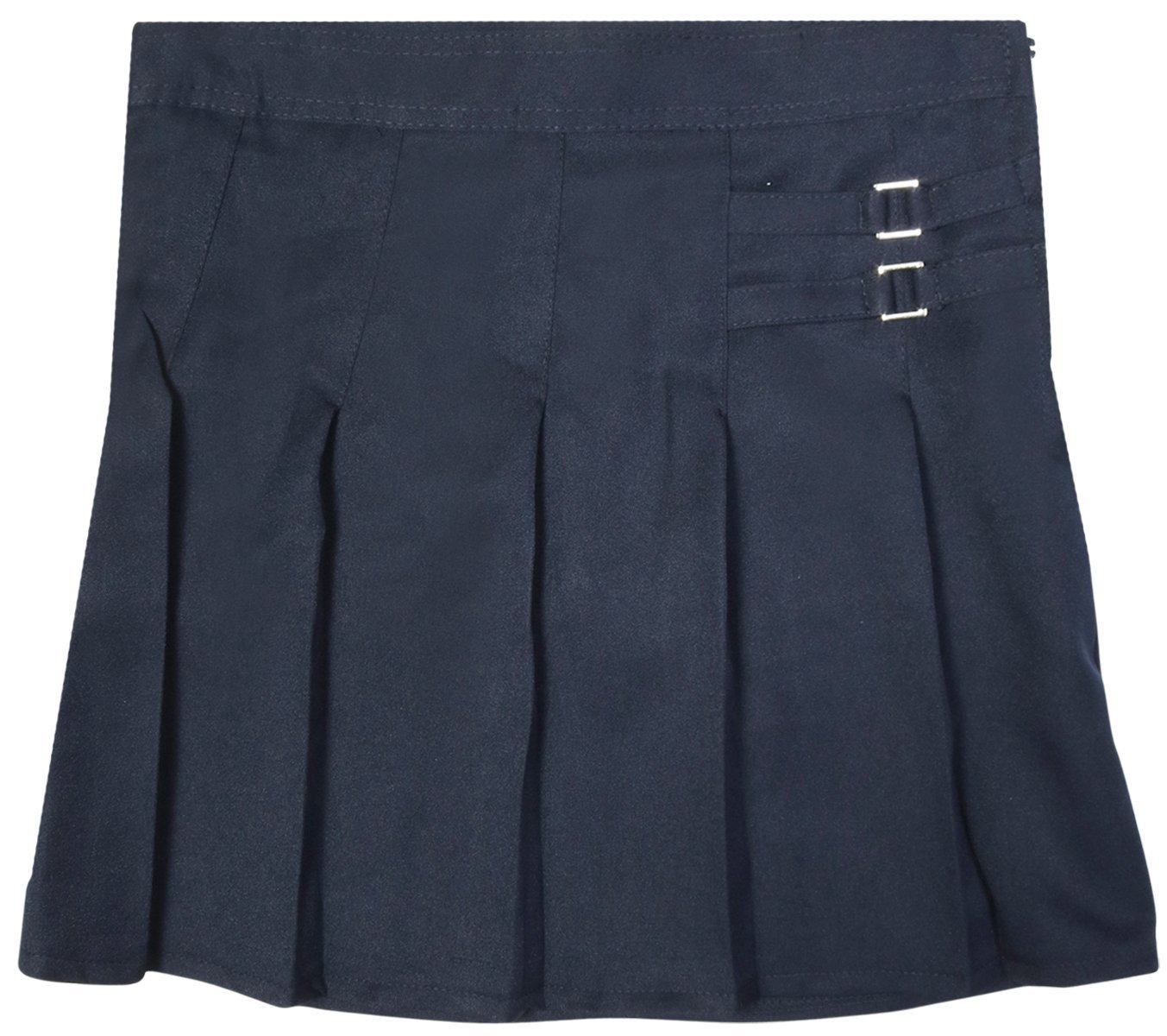 Beverly Hills Polo Club Girls School Uniform Double Waist Tab Pleated Scooted, Navy, Size 6' by Beverly Hills Polo Club (Image #1)