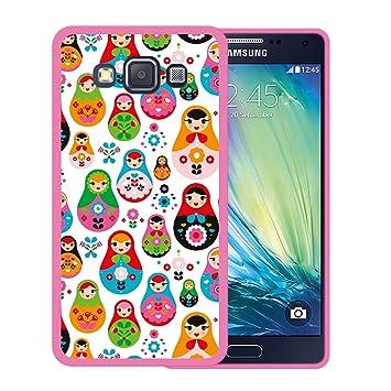 WoowCase Funda para Samsung Galaxy A5 2015, [Samsung Galaxy A5 2015 ] Silicona Gel Flexible Muñeca Rusa Matrioska, Carcasa Case TPU Silicona - Rosa