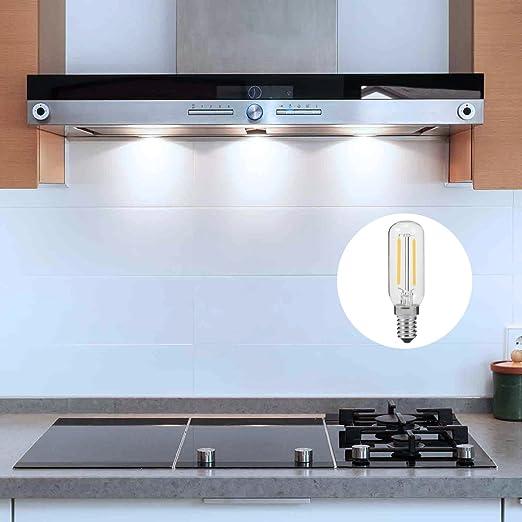 E14 T25 2W LED Leuchtmitte für Dunstabzugshaube, 250 lm, 40 W ...