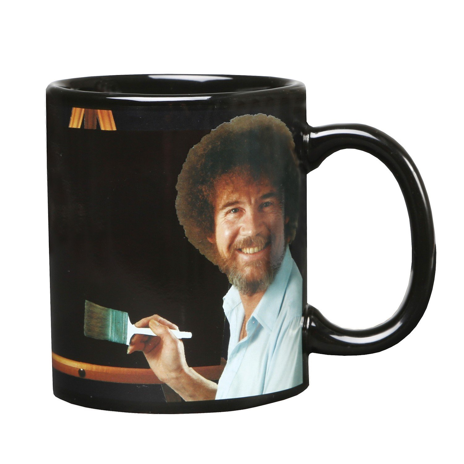 WHAT ON EARTH Bob Ross Heat Changing Mug - Ceramic 11 oz - See Painting Color Hot Liquids by WHAT ON EARTH (Image #2)