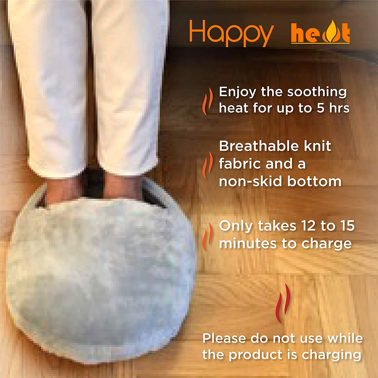 Happy Heat Electric Foot Warmer Perfect Pain Relief for Your Feet CCV Inc. Heated Socks