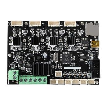 Placa base, mini impresora 3D de repuesto de cobre V1.1.5 interfaz ...