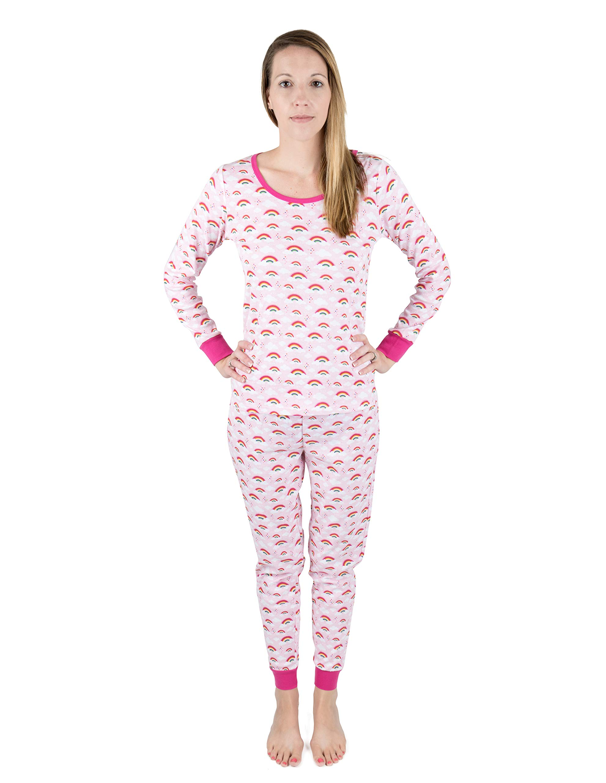 Leveret Women s Printed 2 Piece Pajama Set 100% Cotton (Medium 7ac8e8393