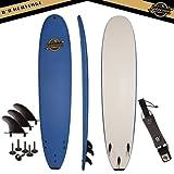 Gold Coast Surfboards - 8'8 Soft Top Foam Surfboard -The Heritage- High Performance Foam Surfboard -CrocSkin Foam Deck, Double Concave Bottom Deck, Rubber Logo, 3 Stringers, GoPro Mount, No Wax Needed