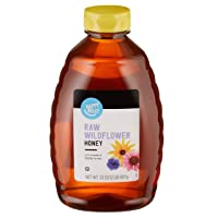 Amazon Brand - Happy Belly Raw Wildflower Honey, 32 oz (Previously Solimo) (Packaging...