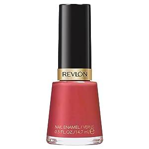 Revlon Nail Enamel, Chip Resistant Nail Polish, Glossy Shine Finish, in Red/Coral, 161 Teak Rose, 0.5 oz