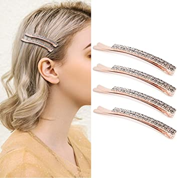 Rhinestone Crystal Clip Hair Jewelry Bobby Pin Hair Clamp Hair Clips Hairpins