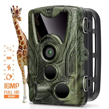 AGM Cámara de Caza Trail Cámara 16MP 1080P Cámara de Animal Salvaje IP66 Impermeable, 0.3
