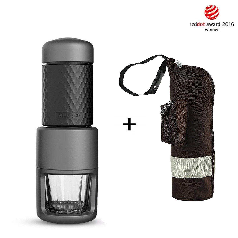 Staresso Coffee Maker with Espresso, Cappuccino, Quick Cold Brew All in One (Black)