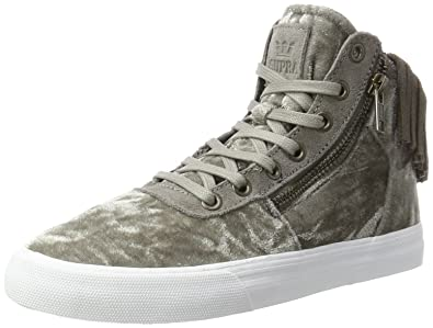 Womens Cuttler Low-Top Sneakers, Black-White-Black Supra