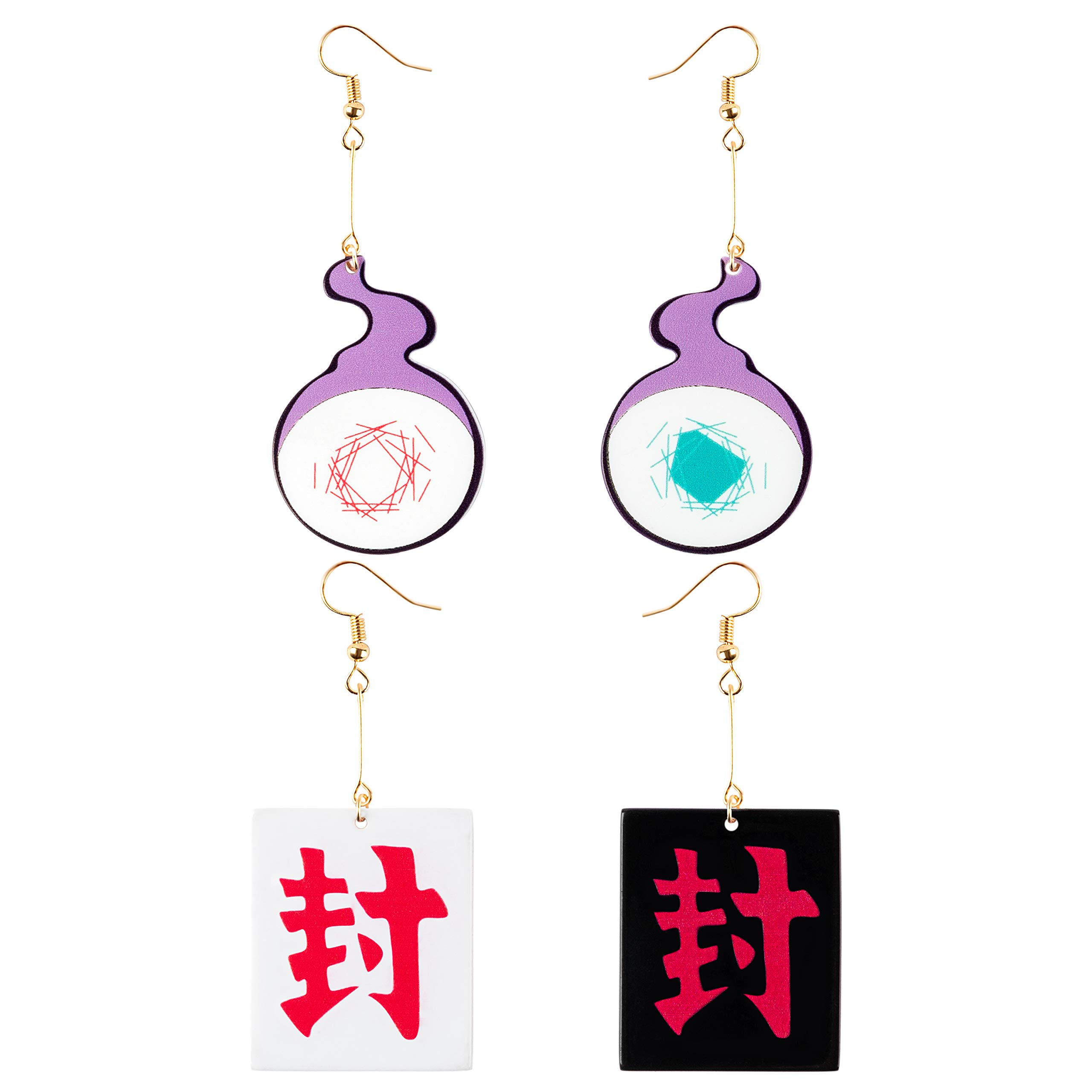 Eartim 2 Pairs Toilet Bound Hanako Kun Earrings, Fashion Anime Cosplay Acrylic Drop Earrings for Women, Teens, Friends, Girls Birthday Valentine's Gift Friendship Party Jewelry Dress Up Accessories