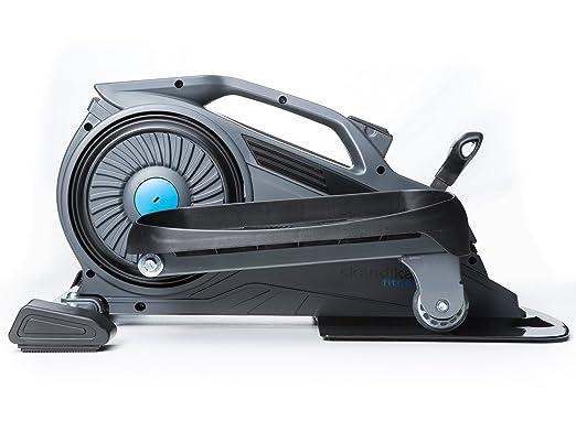 skandika Sit-Fit Mini bicicleta elíptica de uso domestico o para dejabo del escritorio en el trabajo, aparato de entrenamiento con un volante de 1,5 kg, ...