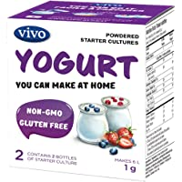 VIVO Real Yogurt Starter/Natural (5 Boxes) Makes up to 30 litres of Yogurt
