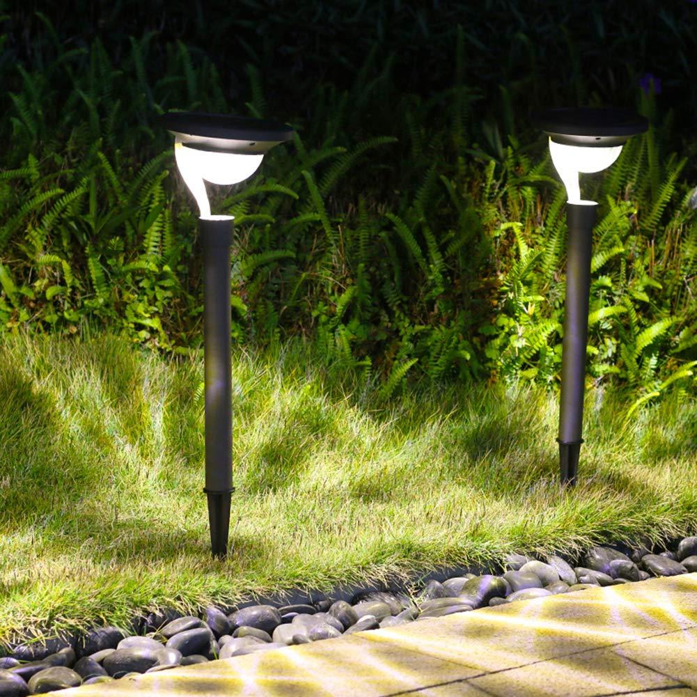 暖かい白い太陽芝生ライト、屋外LED防水景観ライト、パスのセキュリティ照明の2枚 B07SJT1PP4
