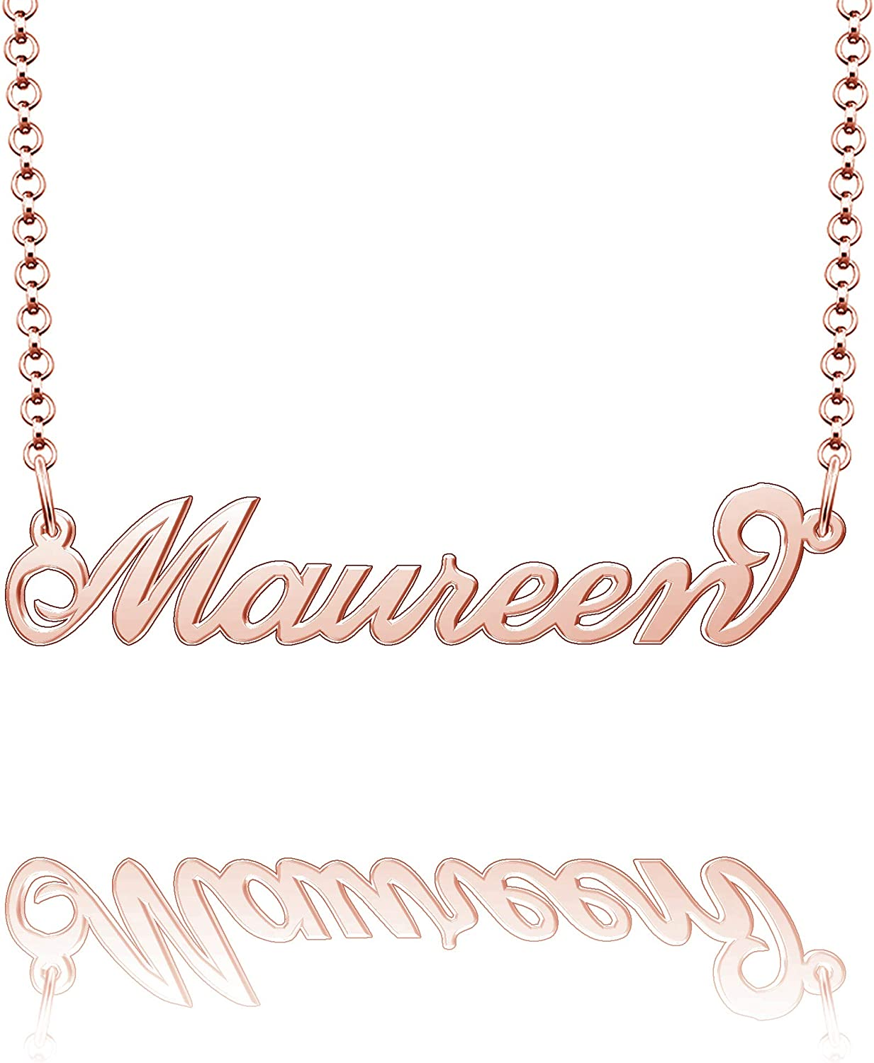 Moonlight Collections Custom Name Necklace Handmade Sterling Silver Necklace Maureen