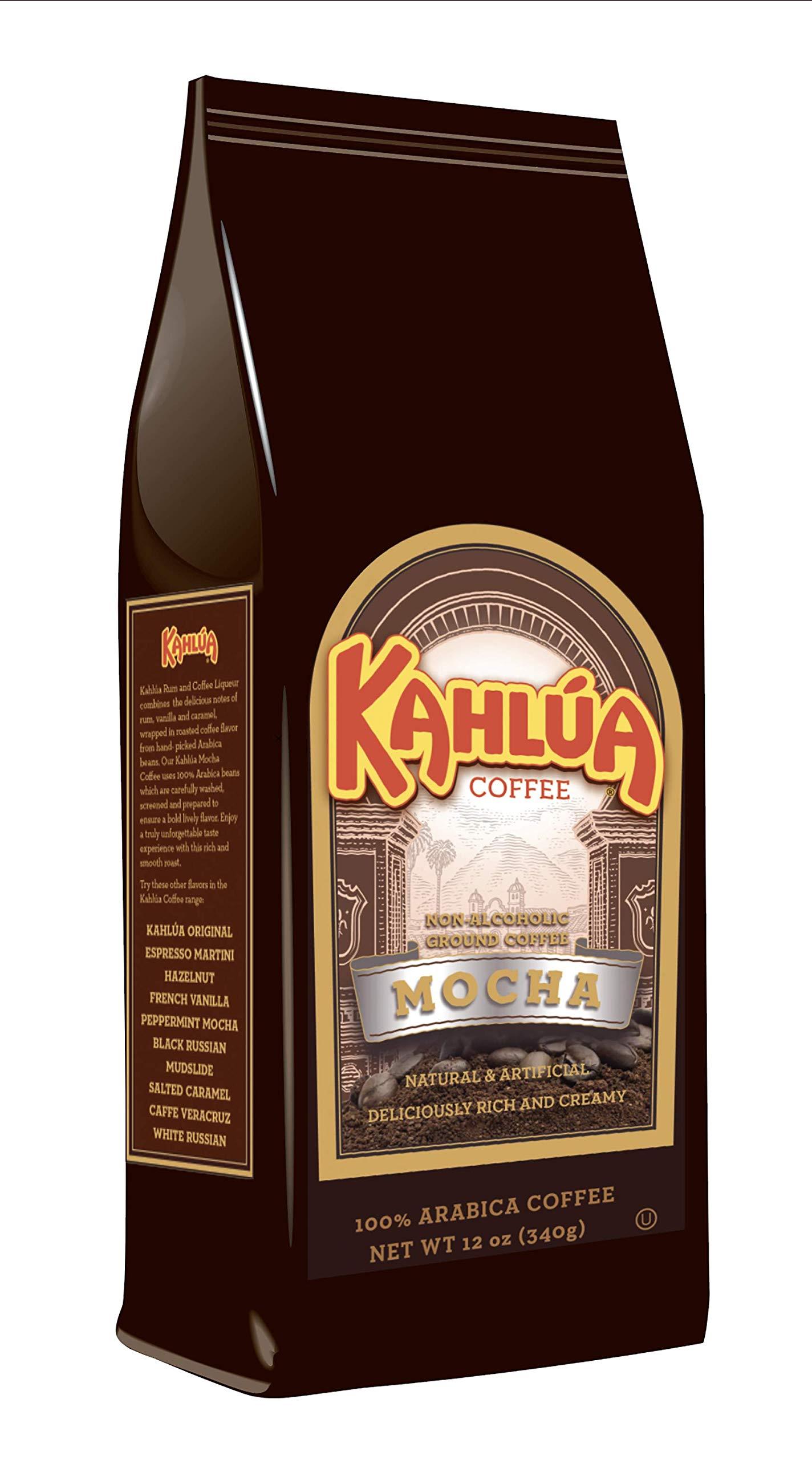 White Coffee Kahlua Gourmet Ground Coffee, Mocha 12.0 Ounce