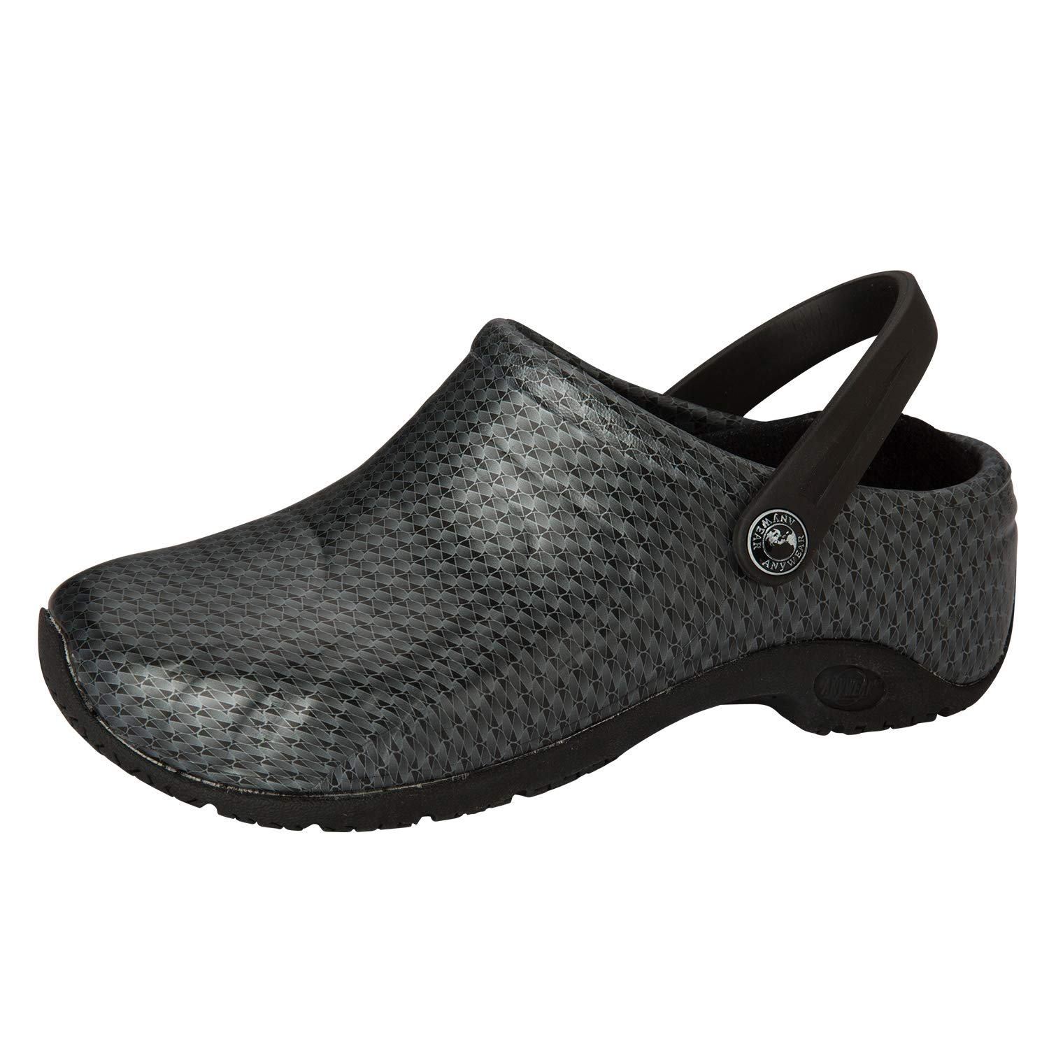 Cherokee Women's Zone Anywear Injected Clog Slip Resistant Rubber Ousole Nursing Shoes