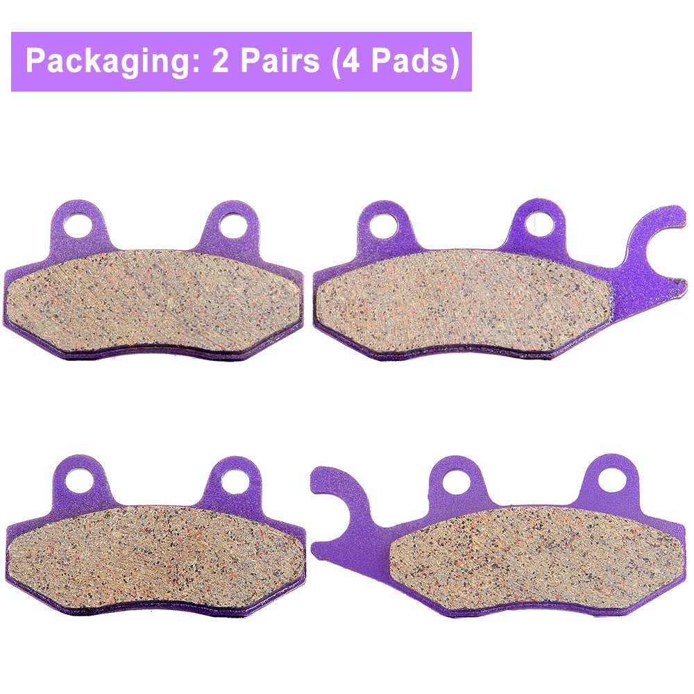 ECCPP FA135 FA165 FA137 Brake Pads Front and Rear Carbon Fiber Replacement Brake Pads Kits Fit for 2006-2009 Suzuki Quadracer 450 LTR450 2x4,2009 Suzuki Quadracer 450 LTR450Z 2x4 LE