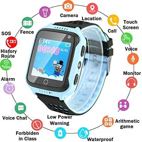 Amazon.com: zqtech - Reloj inteligente para niños con ...
