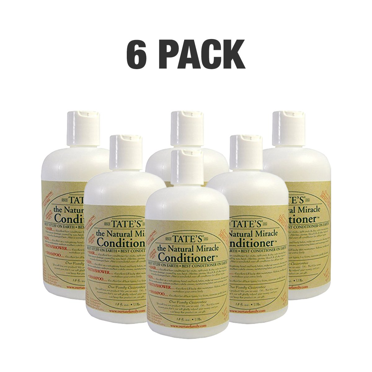 6 Count of Tates Miracle Conditioner