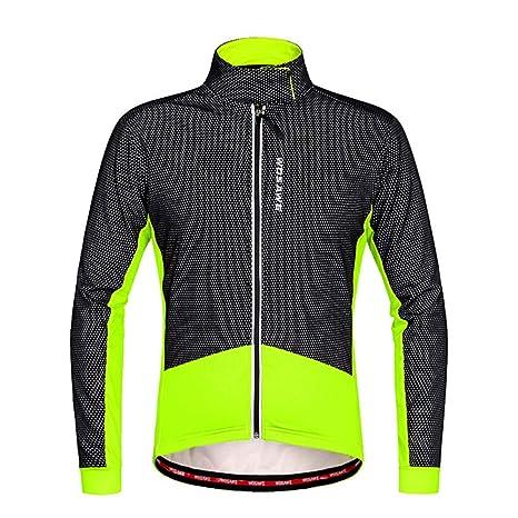 Chaqueta de ciclismo para hombre Chaqueta de alta visibilidad para hombre Transpirable impermeable para ciclismo Correr