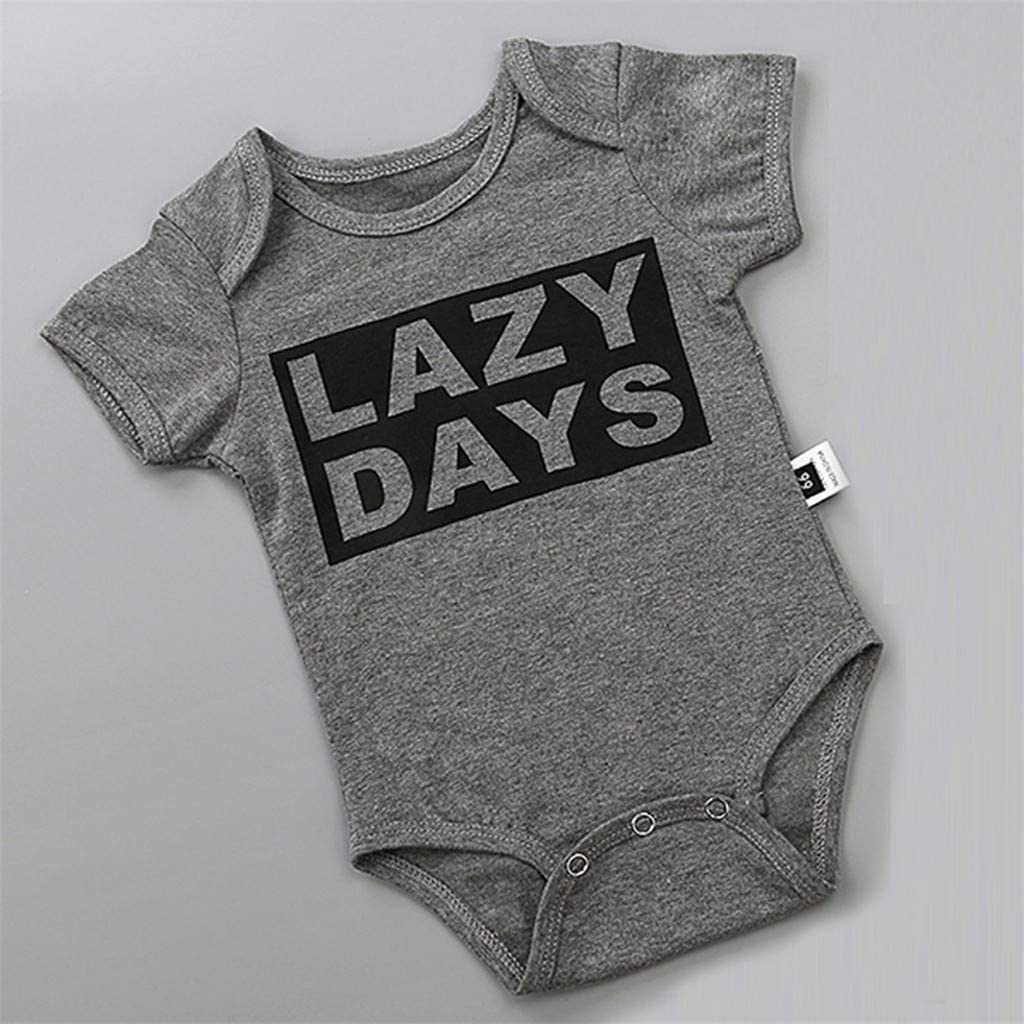 Woaills Kids Toddler Infant Baby Romper Bodysuit Boys Girls Short Sleeve Jumpsuit Romper Outfits Clothes Moms Gift