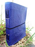 QualityArt Handmade Distressed Leather Journal Blue Mermaid Diary Gift Embossed Poetry Book Travel Artist 8X6 Christmas gifts