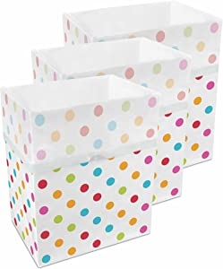 Clean Cubes 13 Gallon Disposable Sanitary Trash Cans & Recycling Bins, 3 Pack (Polka Dot Pattern)