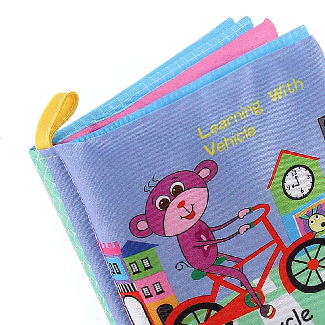PGIGE Baby Shower Bath English Cartoon Animal Cloth Book Juegos educativos tempranos Juguete Navidad Regalos de cumplea/ños para ni/ños Ni/ños 1 Tama/ño