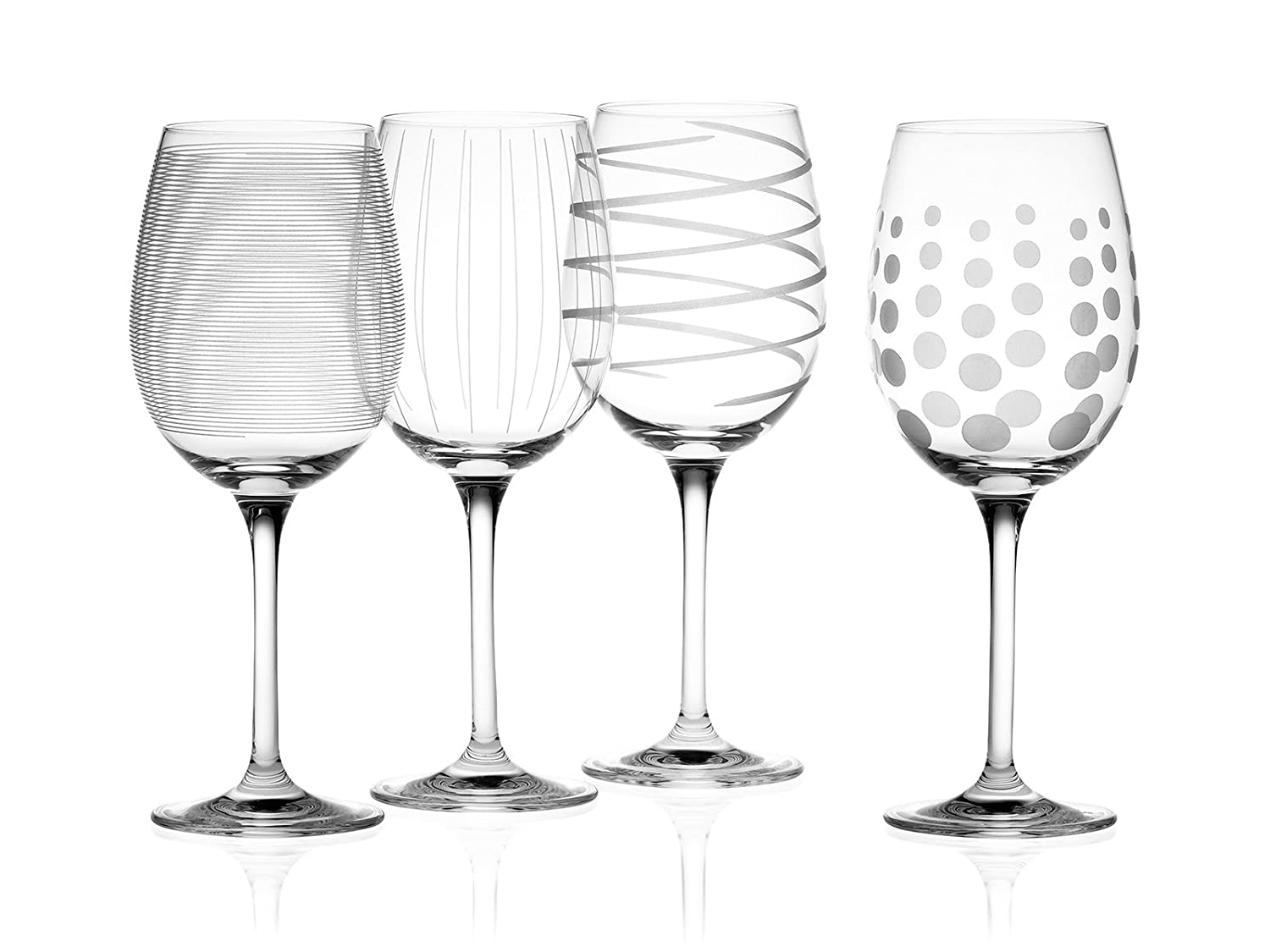 Mikasa Cheers Set of 4 Crystal White Wine Glasses, 450 ml (15 fl oz)