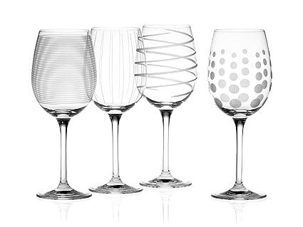157f8e183b4 Mikasa Cheers Set of 4 Crystal White Wine Glasses, 450 ml (15 fl oz)