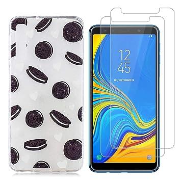 jrester Funda Samsung Galaxy A7 2018,Galleta Negra Suave ...