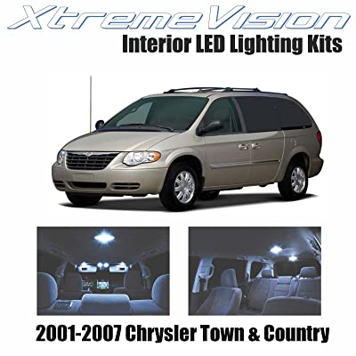 XtremeVision Interior LED for Chrysler Town & Country 2001-2007 (16 Pieces) Cool White Interior LED Kit + Installation Tool: Automotive [5Bkhe0814614]