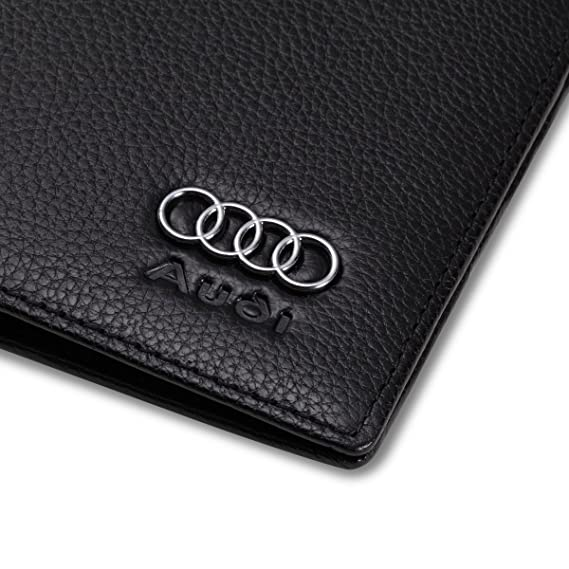 Amazon.com: Audi Bifold cartera con 3 ranuras de tarjeta de ...