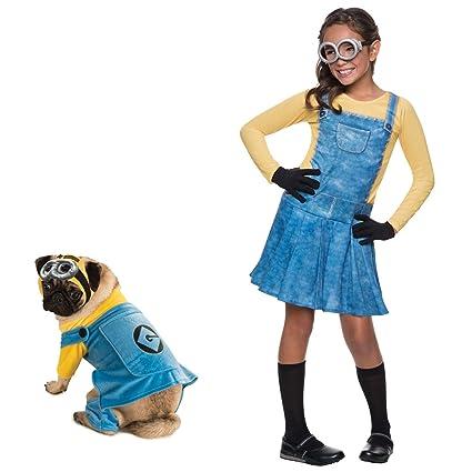 d7892eb9f7 Amazon.com  Rubie s Female Minion Small Kids Costume with Large Pet Costume  Bundle Set  Toys   Games