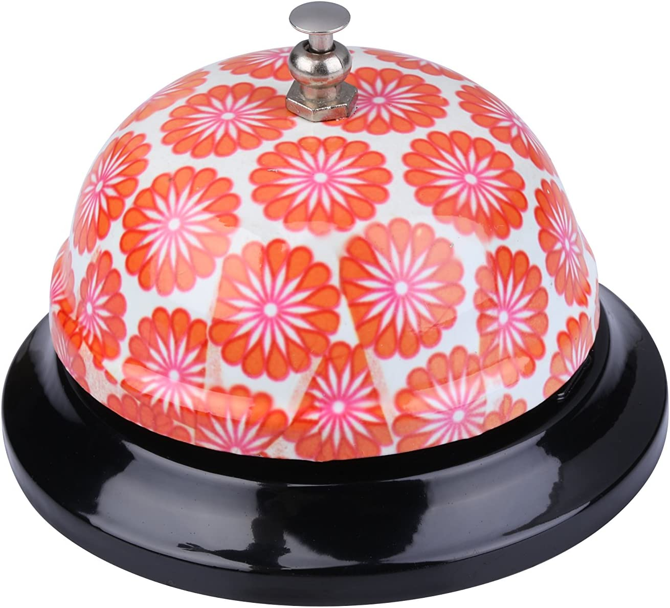 I-MART Call Bell, Service Bell, Front Desk Bell, Ring Bell for Office, Hotel, Classroom, School, Dinner, Kitchen, Restaurants (Orange Color Flower)