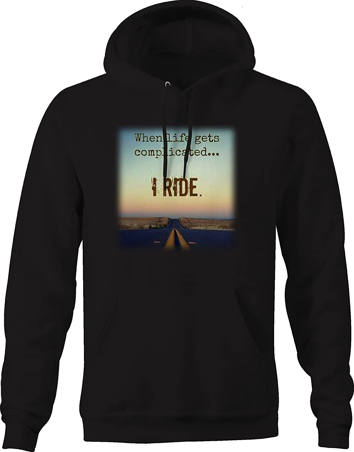 When Life Gets Complicated I Ride Motorcycles Graphic Hoodie for Men
