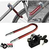 Target Alarm Bicycle Lock - 110dB Siren Alarmed Lock for Bike / Bicycle High Security - With 2 Spare Battery Sets
